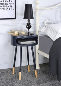 Acme Sonria Black Natural End Table