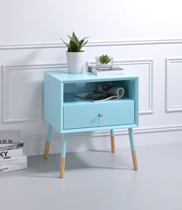 Acme Sonria Light Blue Natural End Table