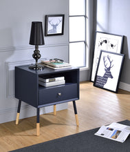 Load image into Gallery viewer, Acme Sonria Black Natural Wooden End Table
