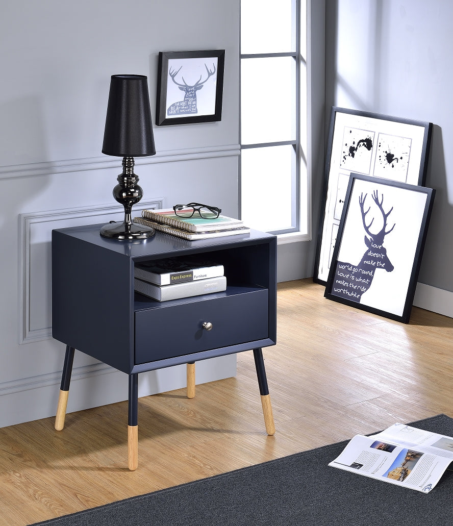 Acme Sonria Black Natural Wooden End Table