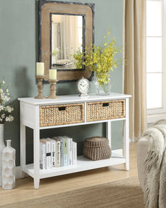 Acme Flavius White Drawer Console Table