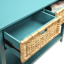 Load image into Gallery viewer, Acme Flavius Teal Drawer Console Table