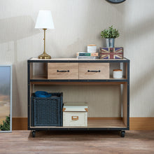 Load image into Gallery viewer, Acme Bemis Weathered Light Oak -Drawer Console Table