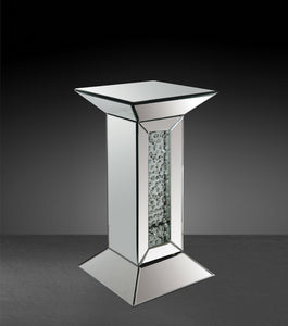 Acme 97306 Nysa Modern Mirrored Pedestal Stand