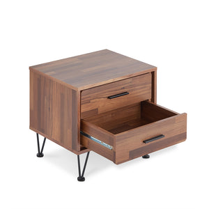 Acme 97330 Deoss Walnut Wood Finish 2 Drawer Nightstand