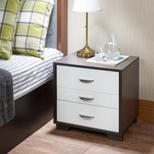 Load image into Gallery viewer, Acme 97342 Eloy White Black Finish 3 Drawer Nightstand