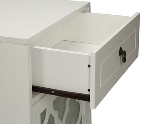 Acme 97378 Ceara White Finish Drawer Door Side Table