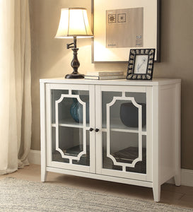 Acme 97384 Ceara White Wood Door Finish Console Table
