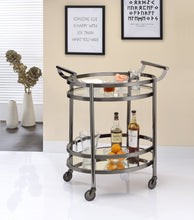Load image into Gallery viewer, Acme Lakelyn Black Nickel Clear Glass Serving Cart
