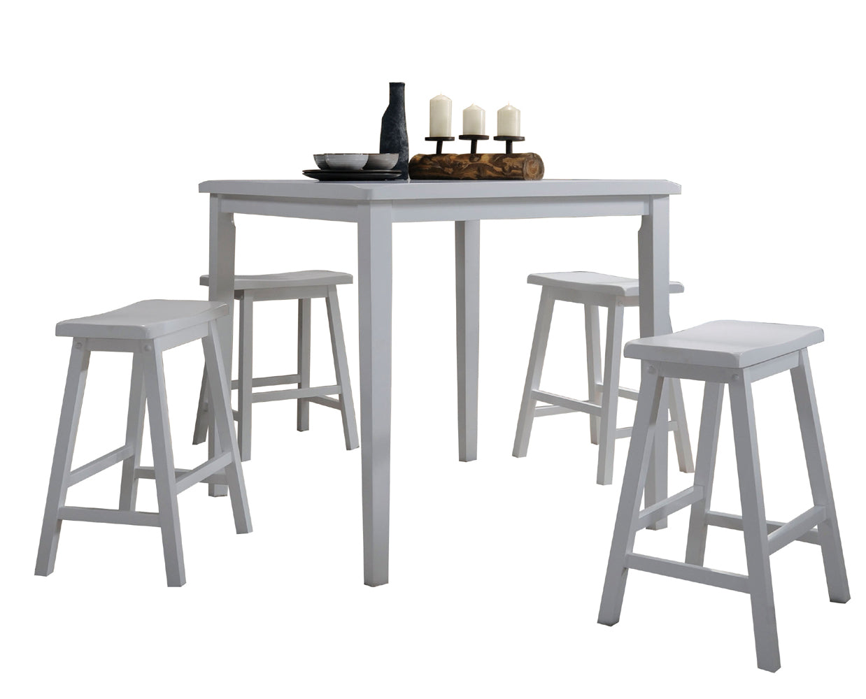 Acme Gaucho White  Pack Counter Height Set
