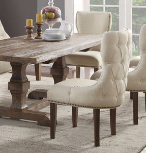 Acme Inverness Reclaimed Oak Wood Finish 2 Piece Dining Chair