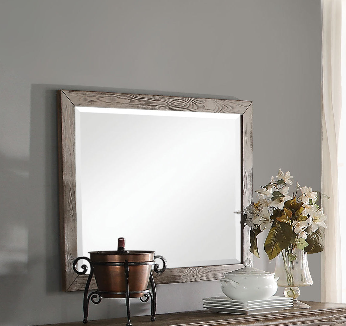 Acme Inverness Reclaimed Oak Accent Mirror
