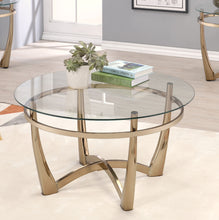 Load image into Gallery viewer, Acme 81610 Orlando Champagne Clear Glass Coffee Table