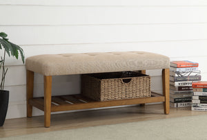 Acme Charla Beige Oak Bench