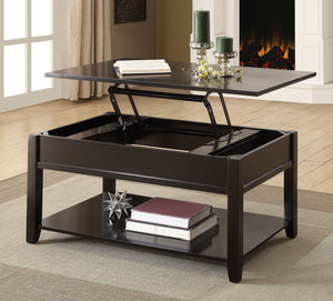 Acme 82950 Malachi Black Finish Lift Top Coffee Table