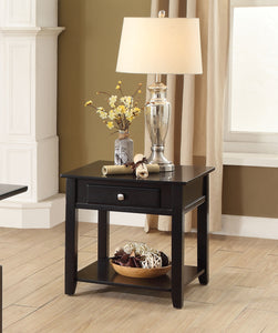 Acme Malachi Black End Table with Drawer