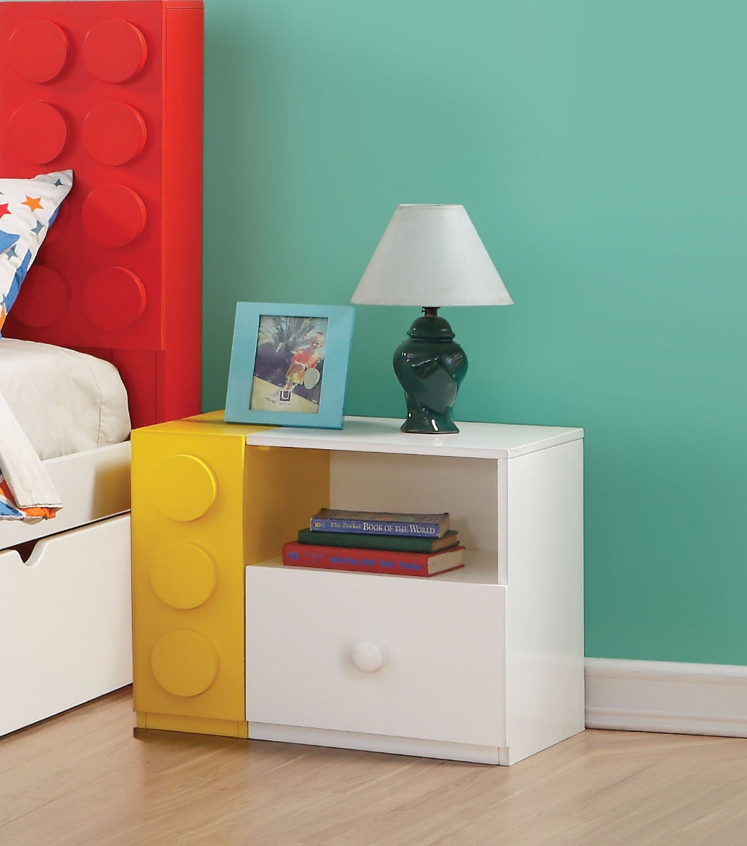 Acme Playground Multicolor Wood Finish Night Stand