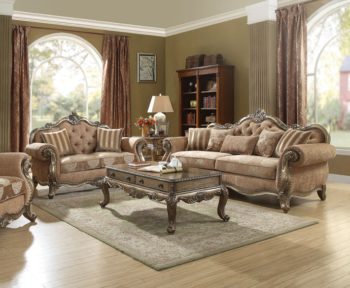Acme Ragenardus Vintage Oak Sofa Set