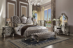 Acme Versailles Antique Finish Platinum Queen Sleigh Bedroom Set