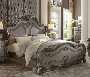 Acme Versailles Antique Platinum Queen Sleigh Bed