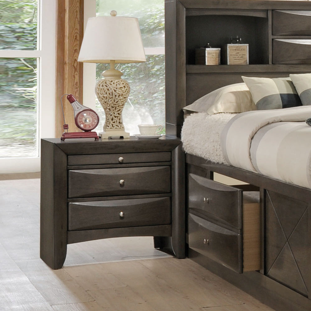 Acme Ireland Gray -Drawer Night Stand
