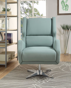 Acme Eudora Gray Stone Leather Accent Chair