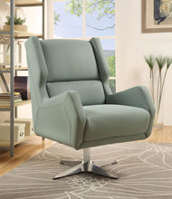 Load image into Gallery viewer, Acme Eudora Gray Stone Leather Accent Chair