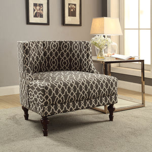 Acme Lolita Pattern Linen Accent Chair