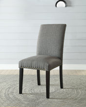 Load image into Gallery viewer, Acme Vriel Stone Gray Linen Finish 2 Piece Dining Side Chair