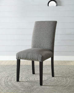 Acme Vriel Stone Gray Linen Finish 2 Piece Dining Side Chair