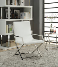 Load image into Gallery viewer, Acme Rafael White PU Leather Finish Accent Chair