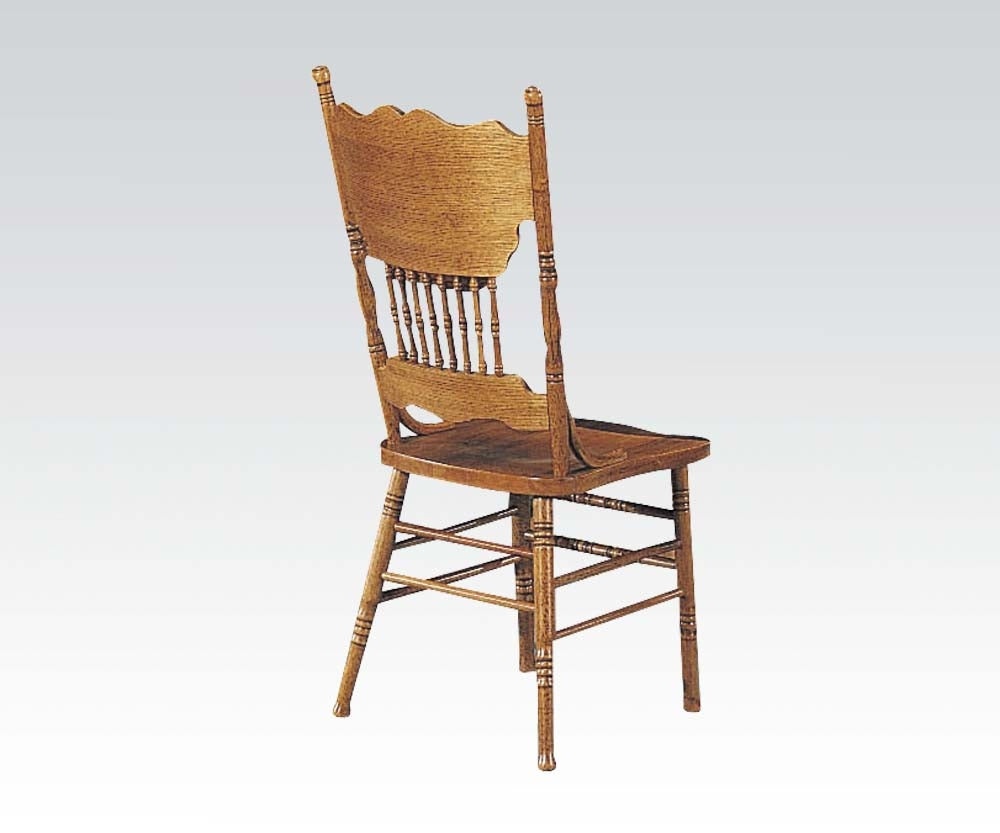 Acme 02185A C Nostalgia Oak Assembled Dining Side Chair set of 2