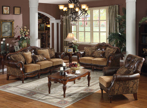 Acme 05495 Dreena 3 Pieces Leather Like PU Sofa Set Loveseat Chair