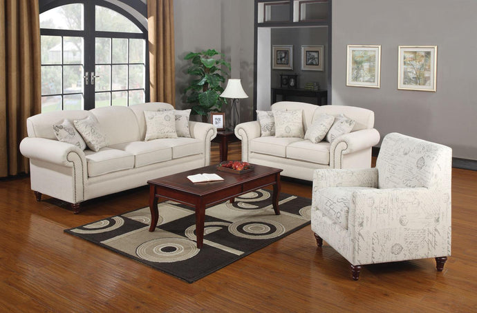 Norah Cream Antique Inspired Sofa Set