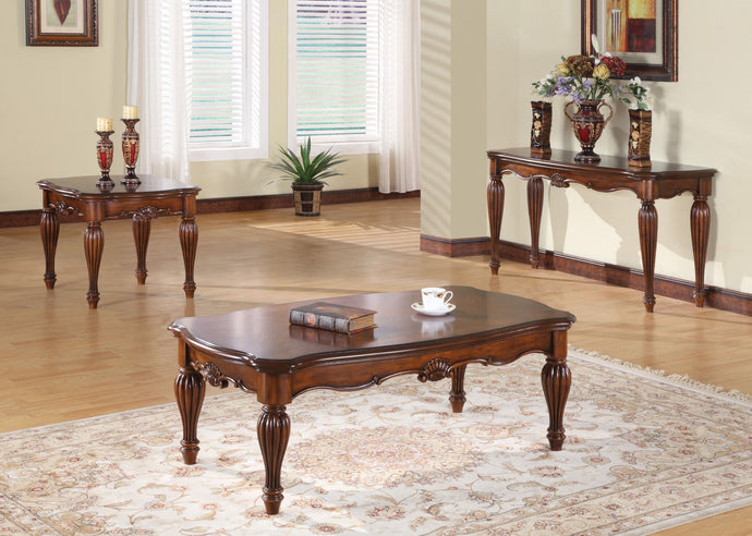 Acme Dreena Traditional Cherry Coffee And End Table Set