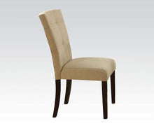 Load image into Gallery viewer, Acme Baldwin Beige Microfiber And Wood Finish 2 Piece Dining Chair