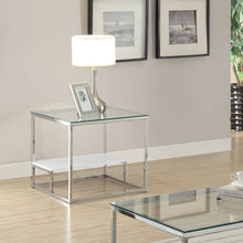 Load image into Gallery viewer, Acme Ruben Clear Glass Chrome End Table