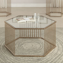 Load image into Gallery viewer, Acme 81240 Oaklie Champagne Clear Glass Coffee Table
