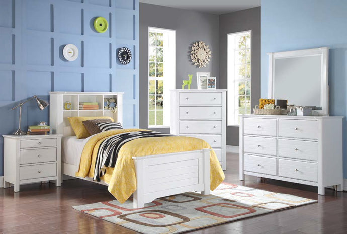 Acme Mallowsea White Bookcase Full Bedroom Set