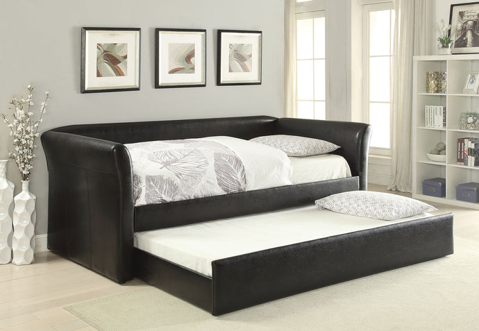 Acme 39145 Misthill Black PU Leather Trundle Daybed