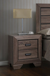 Acme Lyndon Weathered Gray Grain -Drawer Night Stand