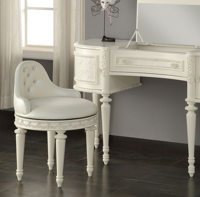 Acme Dorothy Ivory Vanity Swivel Chair