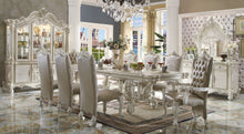 Load image into Gallery viewer, Acme Versailles Bone White Finish Rectangular Dining Table Set
