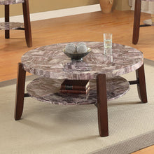 Load image into Gallery viewer, Acme Lilith Faux Faux Marble Cherry Finish Coffee Table