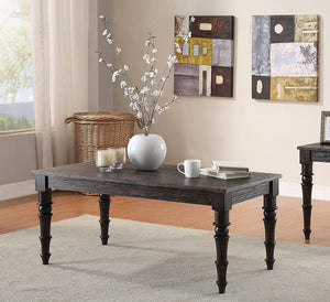 Acme Kami Antique Black Wood Finish Coffee Table