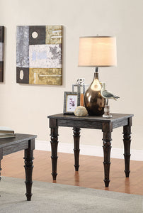 Acme Kami Antique Black Wood Finish End Table