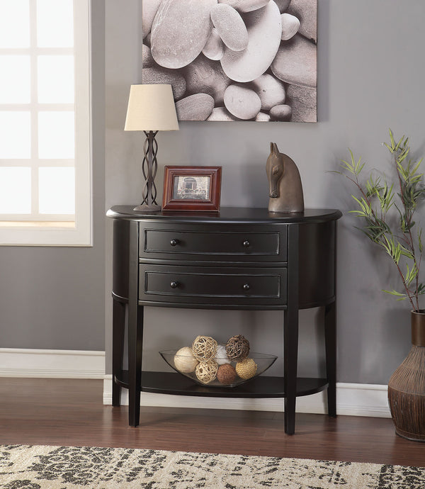 Acme Poshire Black Console Table