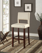 Load image into Gallery viewer, Acme Reiko White And Espresso PU Leather Finish 2 Piece Bar Chair