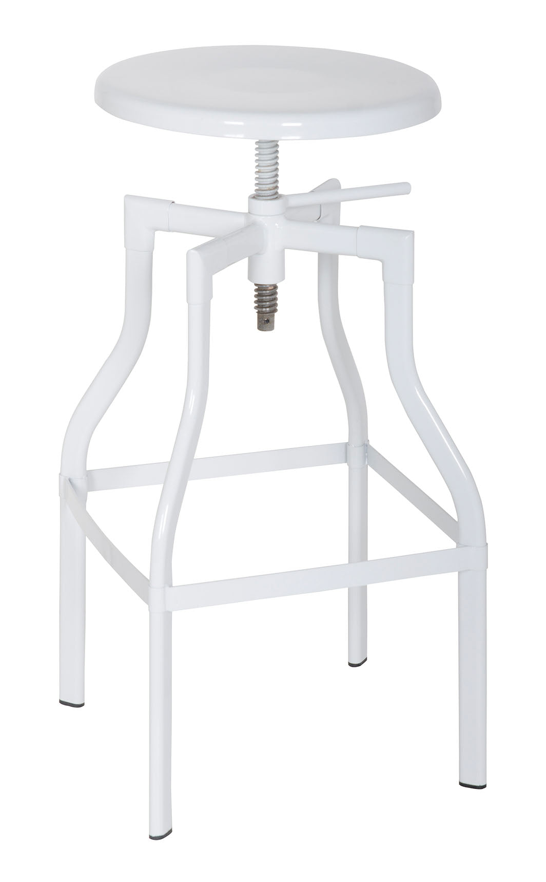 Acme Xena White Adjustable Swivel Stool