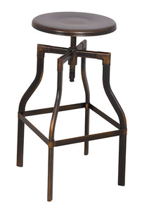 Acme Xena Antique Copper Metal Finish Adjustable Swivel Stool